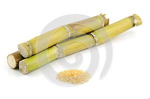 Zuckerrohr und brauner Zucker