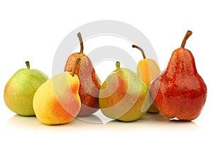 Zusammenstellung der verschiedenen bunten Birnen