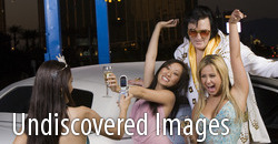 undiscovered images - Woman Photographing Friends And Elvis Presley Impersonator