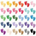 Baby Feet, baby shower sticker, girl, boy,