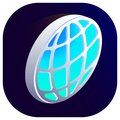 Earth vector isometric globe 3d icon right top view