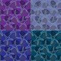 Set of four patterns.