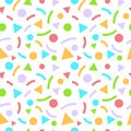 Abstract geometric seamless pattern with triangles and circles