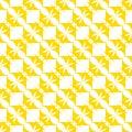 Yellow pattern on a white background. Seamless pattern.