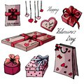 Set presents for Valentine`s Day.