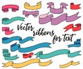 Colored vector ribbons for text