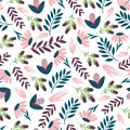 Seamless colourful floral pattern. Wrapping paper.Печать