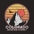 Colorado typography graphics with mountains and eagle. Vintage print for slogan tee shirt. Grunge t-shirt print. Vector. Royalty Free Stock Photo