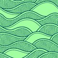 Vector illustration with abstract waves or dunes. Graphic ornament.