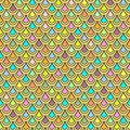 Multicolor fish scales seamless pattern, graphic ornament, animalistic ornament, rainbow illustration, vector background. Colorful