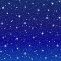 Vector winter square Christmas background of glowing snowflakes, grunge contour clouds on the dark blue sky. EPS 10 Royalty Free Stock Photo