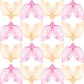 stock image of  Аbstract orange and pink wings pattern on seamless background