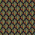 Seamless pattern with striped rhombuses.