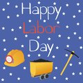 Happy Labor Day greeting card.