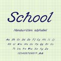 School. Handwritten alphabet. Vector illustration.