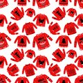 Seamless pattern with ugly sweater. Art can be used for holiday