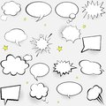 Comic Speech Bubbles Set. Pop ...