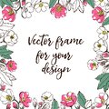 Flower vector template. with space for text