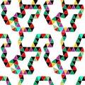 Bright seamless pattern of triangular modules, beautiful drawn designer,
