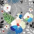 Nature inspired seamless pattern.