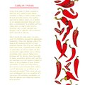 Food background with colorful chili pepper vegetable Hand drawn vertical social media template