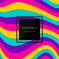 Abstract Background. Rainbow 3d Fluid Shapes.Minimal Pattern. Neon Wave Brochure. Abstract Poster. Colorful Geometric Background.