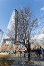 árbol del superviviente world trade center Imagenes de archivo