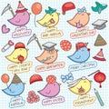Cute birdy celebration clip art Royalty Free Stock Photo