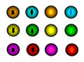 İnsect button set Royalty Free Stock Photo