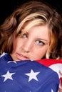 älska Amerika Royaltyfri Fotografi