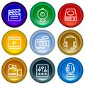 Set of web buttons glossy icons.