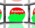 échange d idées sur brain on screen showing group des mots Photographie stock