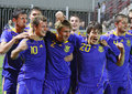 Équipe nationale de l'Ukraine (Under-21) Photo stock