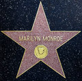 Étoile de Marilyn Monroe Photo stock