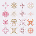부드러 문양 various styles of soft symbol sets original pattern and symbol series Royalty Free Stock Photography