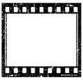 Ícone do filmstrip de Grunge Foto de Stock Royalty Free