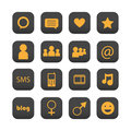 Ícones sociais da rede Fotos de Stock Royalty Free
