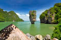 Île de James Bond sur le compartiment de Phang Nga Photo stock
