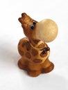 Ð¡lay giraffe figurine top view Royalty Free Stock Photography