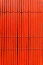 Ð¡losed red metal door Royalty Free Stock Images