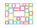 Ð¡olored picture frames. Stock Photography