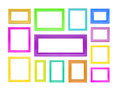 Ð¡olored picture frames. Stock Photos