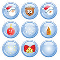 Ð¡ristmas buttons Royalty Free Stock Images