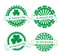 Ðœector st. Patrick's day stamps Stock Images