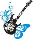 Ð'utterfly guitar Royalty Free Stock Photo