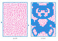 ð hild s picture puzzles draw line maze discovers image Stock Photos
