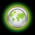 Ökologiewelttaste Lizenzfreie Stockfotografie