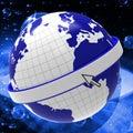 światowe planety wskazują pustą przestrzeń i puste miejsce Obrazy Stock
