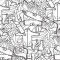 αναψυχή τουρισμός και στρατοπέ? ευση συρμένα χέρι doodle στοιχεία άνευ Στοκ φωτογραφίες με δικαίωμα ελεύθερης χρήσης