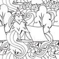 αναψυχή τουρισμός και στρατοπέ? ευση συρμένα χέρι doodle στοιχεία άνευ Στοκ φωτογραφία με δικαίωμα ελεύθερης χρήσης